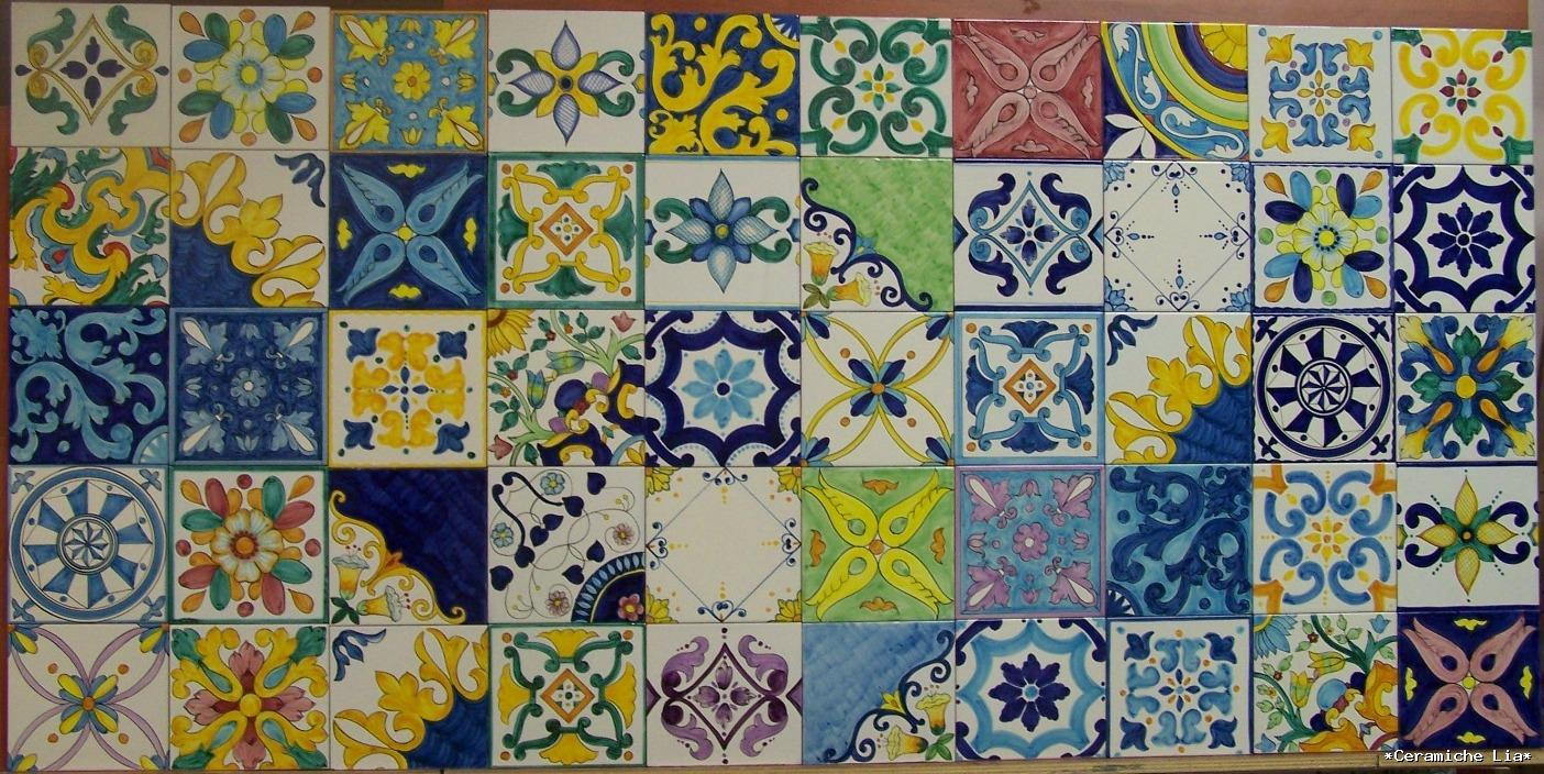 Piastrelle in maiolica old italian tiles from naples in maiolica
